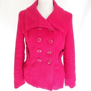 Wet Seal Pink Double Breasted Wool Coat